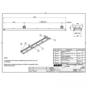 500kg scaffold beam Gantry Hoist