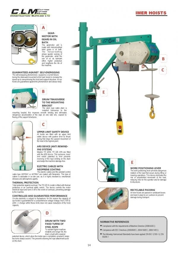 Imer Scaffold Hoist intro page