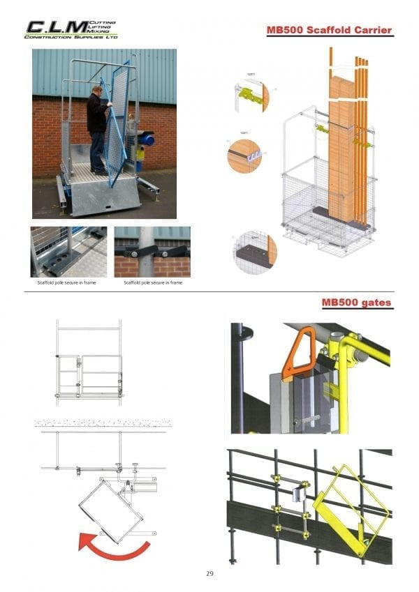 MB500 Scaffold Carrier - MB500 Gates
