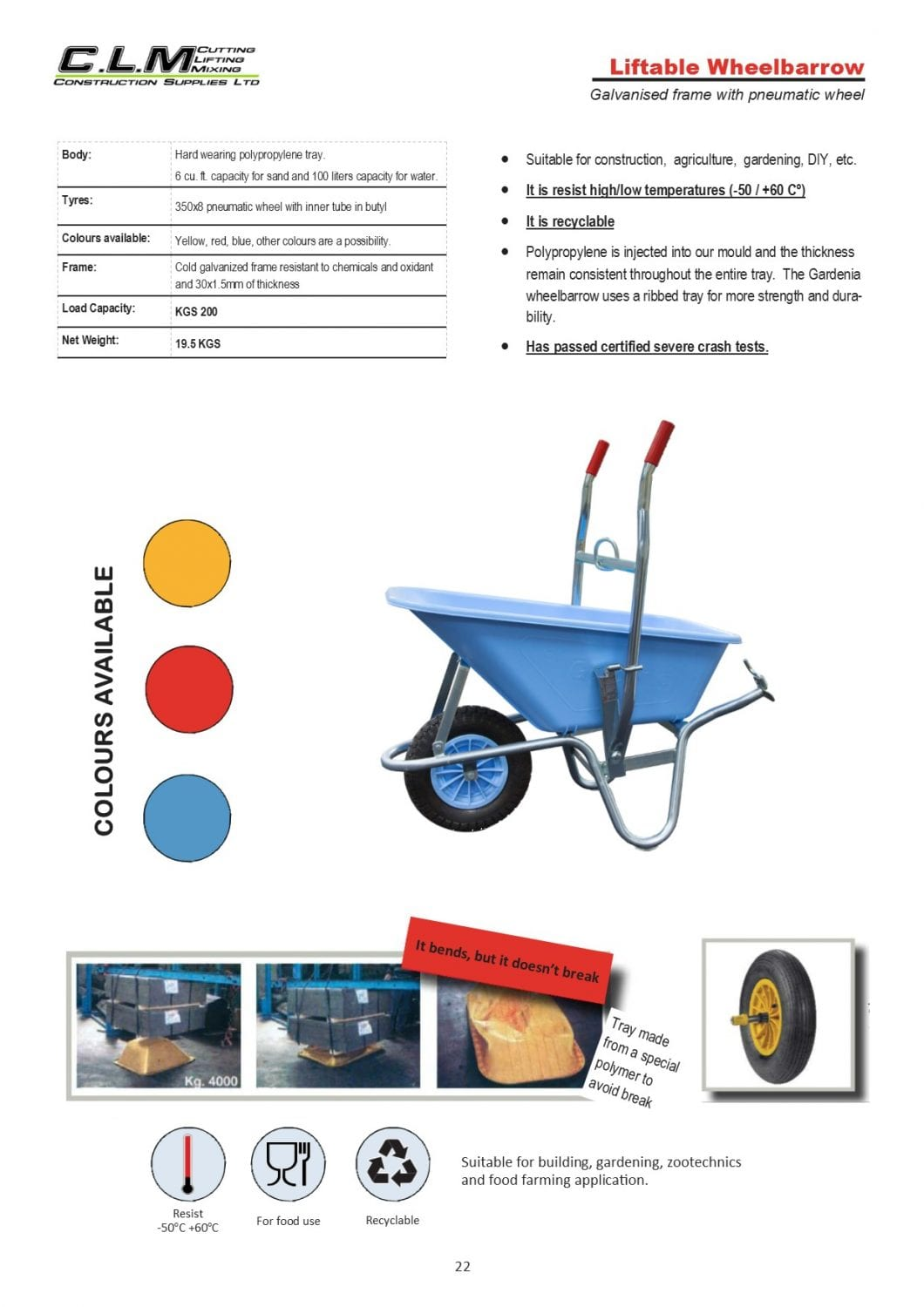 page 22 Liftable Wheelbarrow