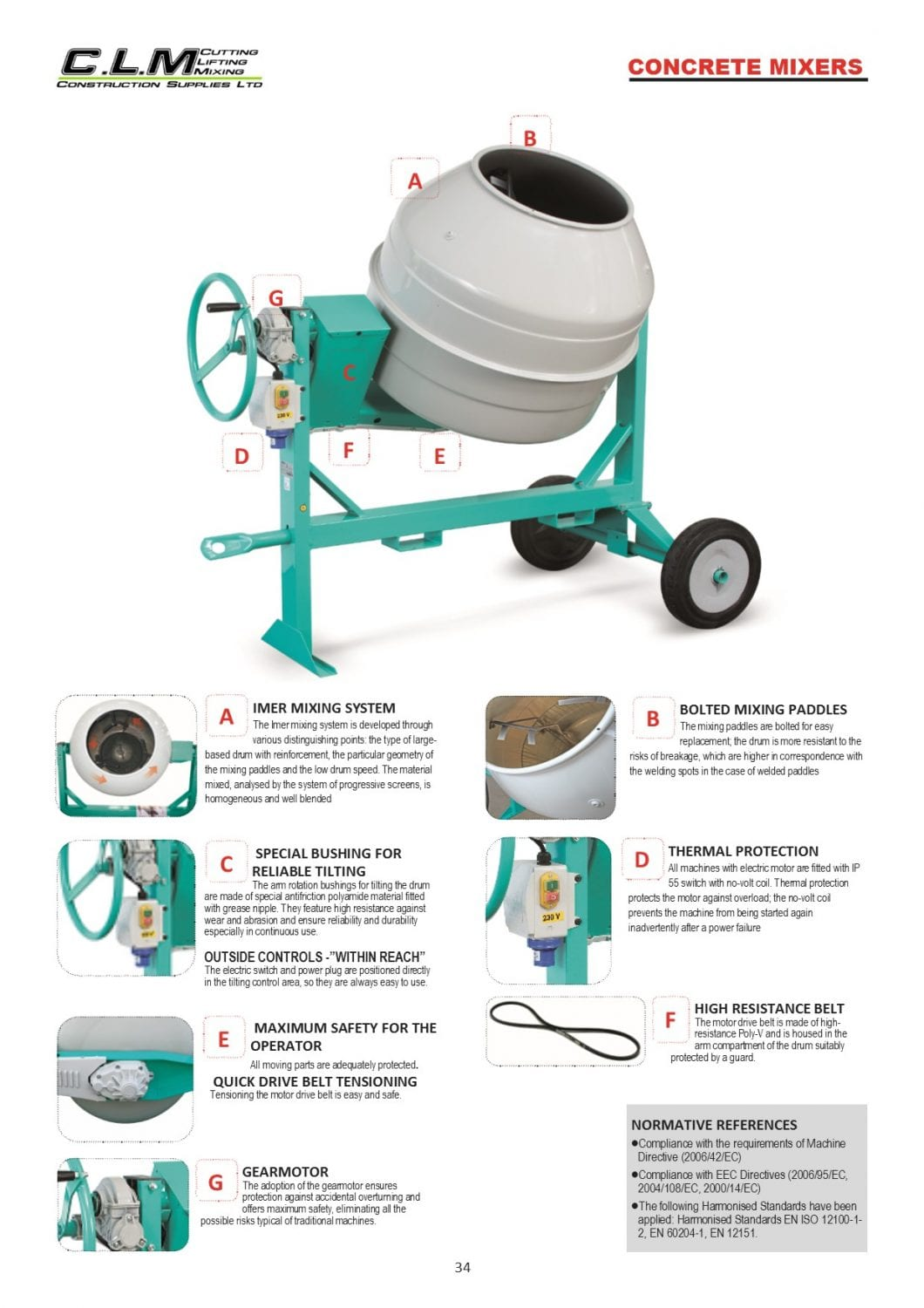 page 34 Concrete mixers intro page