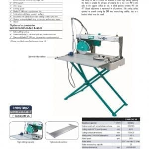 page 5 Combi 200 VA Tile Saw